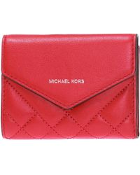 0f7b5f36cf9b Michael Kors - Quilted Wallet With Logo - Lyst