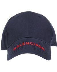 61e6ee34380 Lyst - Balenciaga Navy Logo Baseball Cap in Blue for Men