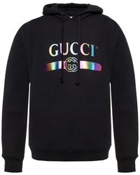 7bd69523ee1 Lyst - Gucci Striped Hooded Zip Up Sweater In Grey in Gray for Men