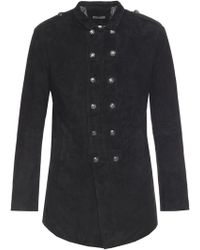 John Varvatos - Double-breasted Coat - Lyst