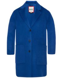 KENZO - Coat With Notch Lapels - Lyst
