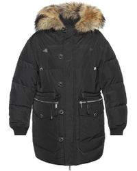 DSquared² - Quilted Jacket With Fur Collar - Lyst