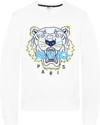 ab25a1fe0 KENZO Mesh Tiger Embroidered Cotton Sweatshirt in Black for Men - Lyst