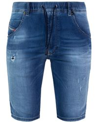DIESEL - Distressed Denim Shorts - Lyst