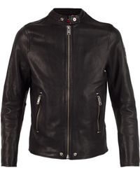 DIESEL - Leather Jacket - Lyst