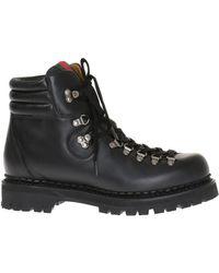 49379ba6923e Lyst - Gucci Black Leather Logo Script Boots in Black for Men