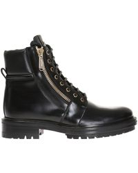 Balmain - Logo Boots - Lyst