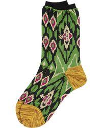 Vivienne Westwood   Ikat Socks Green   Lyst