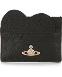 Vivienne Westwood | Opio Saffiano Heart Card Holder 321528 Black | Lyst