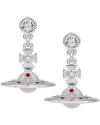 Vivienne Westwood | Silver New Petite Orb Earrings | Lyst