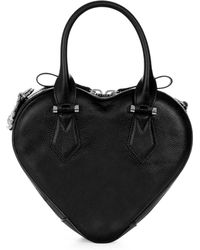 Vivienne Westwood - Johanna Heart Handbag 42020028 Black - Lyst