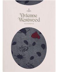 Vivienne Westwood - Heart Stockings Navy - Lyst