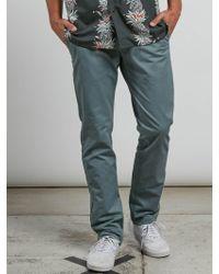 Volcom - Frickin Slim Chino Pants - Off White - 28 - Lyst