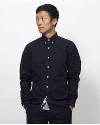 Apolis - Washed Broadcloth Button Down - Navy - Lyst