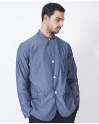 Still By Hand - Cotton Blazer / Blue - Lyst