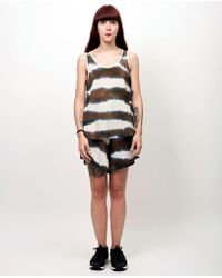 First Rite - Painted Silk Tank - Lyst