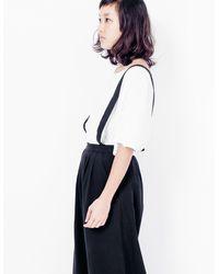 First Rite - Suspender Culotte / Black - Lyst