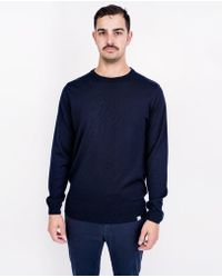 Norse Projects - Sigfred Merino Knit / Dark Navy - Lyst