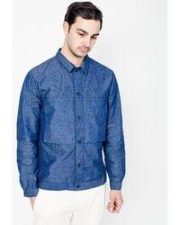 Still By Hand - Shirt Blouson / Blue - Lyst