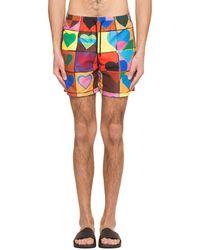 JW Anderson - Heart Grid Swimshorts - Lyst