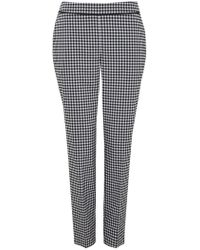 Wallis - Monochrome Gingham Straight Leg Trouser - Lyst