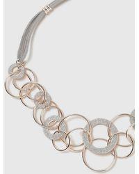 Wallis - Rose Gold Glitter Ring Neckless - Lyst