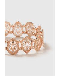Wallis - Rose Gold Teardrop Stretch Bracelet - Lyst