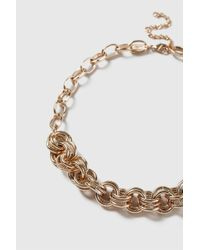 Wallis - Gold Finish Thick Chain Necklace - Lyst