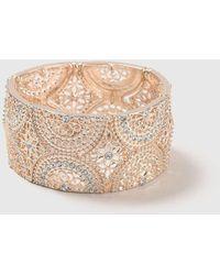 Wallis - Rose Gold Filigree Stretch Bracelet - Lyst