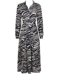 Wallis - Monochrome Zebra Print Split Shirt Dress - Lyst