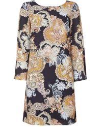 Wallis - Petite Ochre Paisley Swing Dress - Lyst