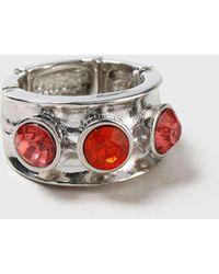 Wallis | Gem Stone Stretch Ring | Lyst