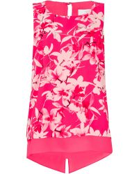 46638a55a5a4 Ted Baker Jungle Orchid Print Top in White - Lyst