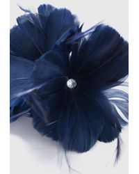 Wallis - Navy Flower Clip Fascinator - Lyst