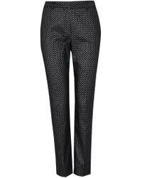Wallis - Silver Jacquard Tailored Trouser - Lyst