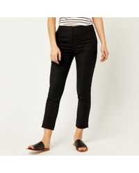 Warehouse - Compact Cotton Trousers - Lyst