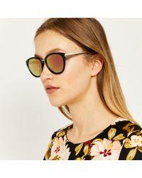 Warehouse - Chevron Detail Sunglasses - Lyst