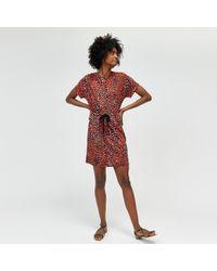 Warehouse - Cheetah Print Button Side Top - Lyst