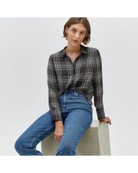 Warehouse - Soft Checked Shirt - Lyst