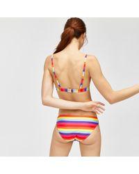 Warehouse - Rainbow Stripe Bikini Top - Lyst