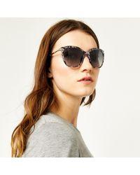 Warehouse - Glam Bamboo Tort Sunglasses - Lyst