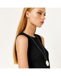 Warehouse - Organic Disc Pendant Necklace - Lyst