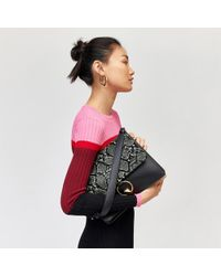 Warehouse - Mixed Material Satchel - Lyst