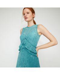 6ed041392b76 Warehouse Frill Sleeve Lace Dress in Purple - Lyst