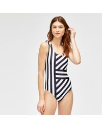 Warehouse - Cutabout Stripe Swimsuit - Lyst