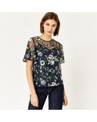 Warehouse - Anais Floral Embroidered Top - Lyst