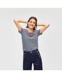 Warehouse - Contrast Neck Stripe Tee - Lyst