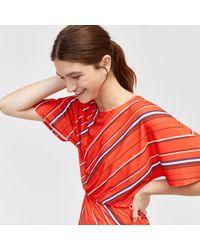 Warehouse - Diagonal Stripe Printed Top - Lyst