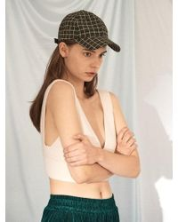 Awesome Needs - [unisex]tmall Grid Ball Cap Khaki - Lyst
