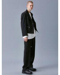 VOIEBIT - V631 Crop Zipper Jacket_black - Lyst